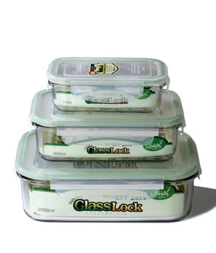 Glasslock Food Storage Container Sets Kinetic Glass Lock 1317 Rectangular Glass Foodstorage Containers