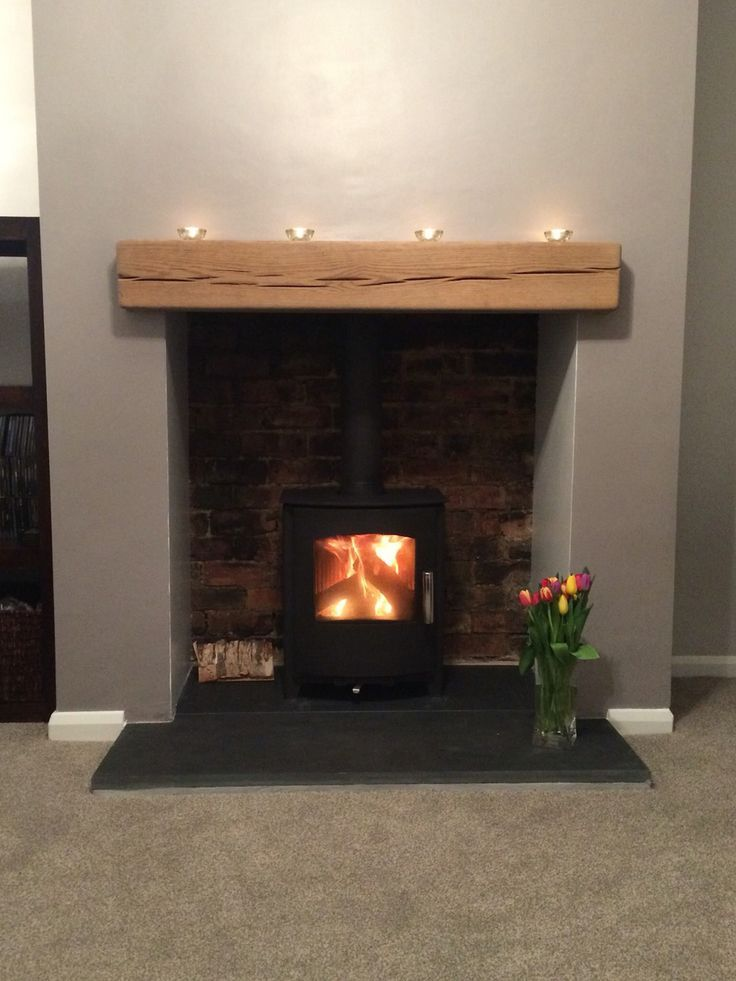Image result for wood stove fireplace with built ins Log