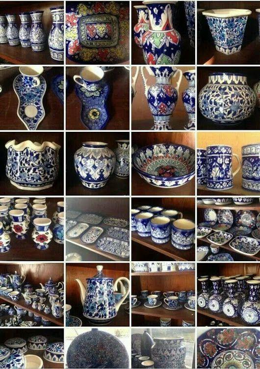 Blue Pottery Beautiful Handicrafts Of Multan Art Made In