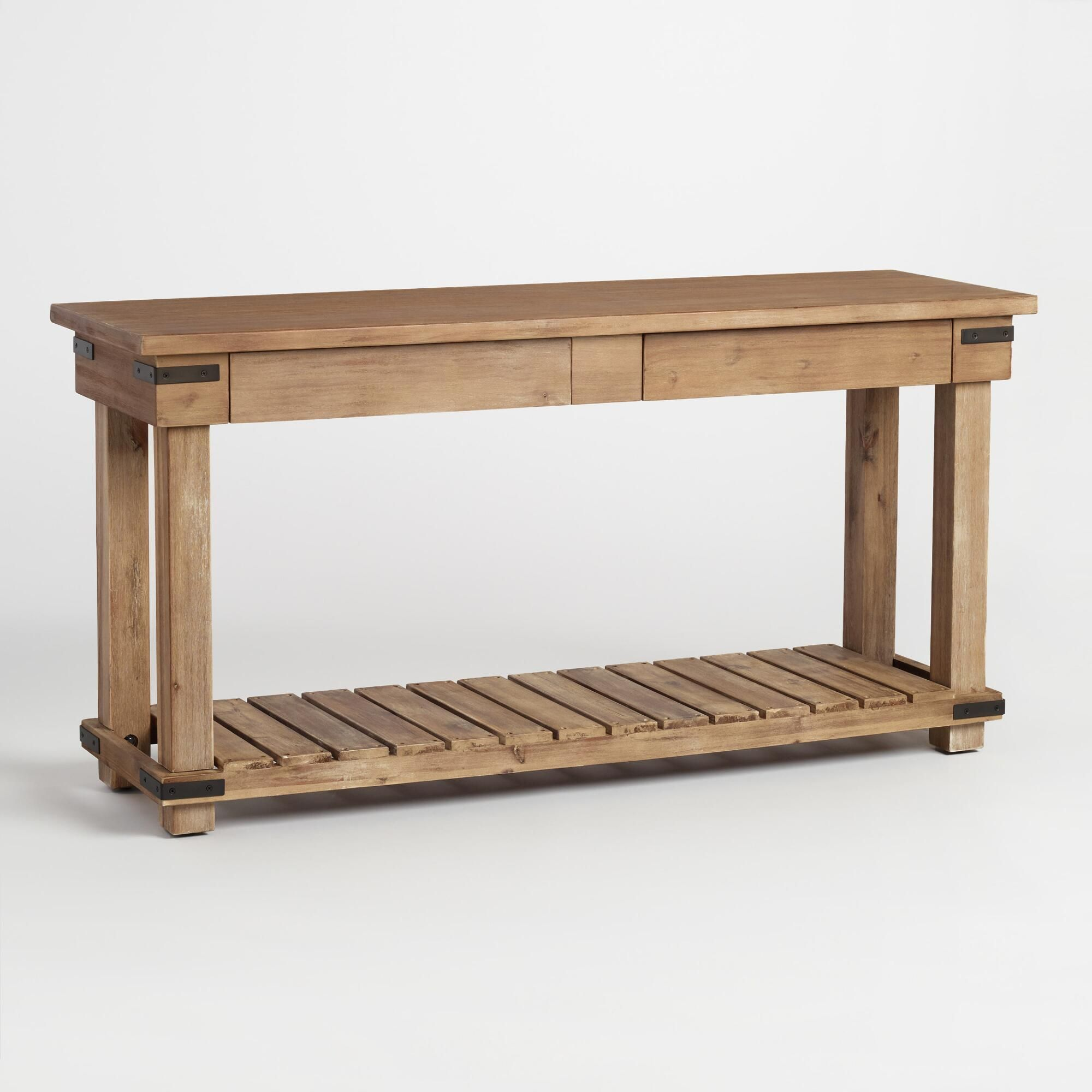 Hallway furniture oak In a weathered beach finish our wooden console table is a versatile
