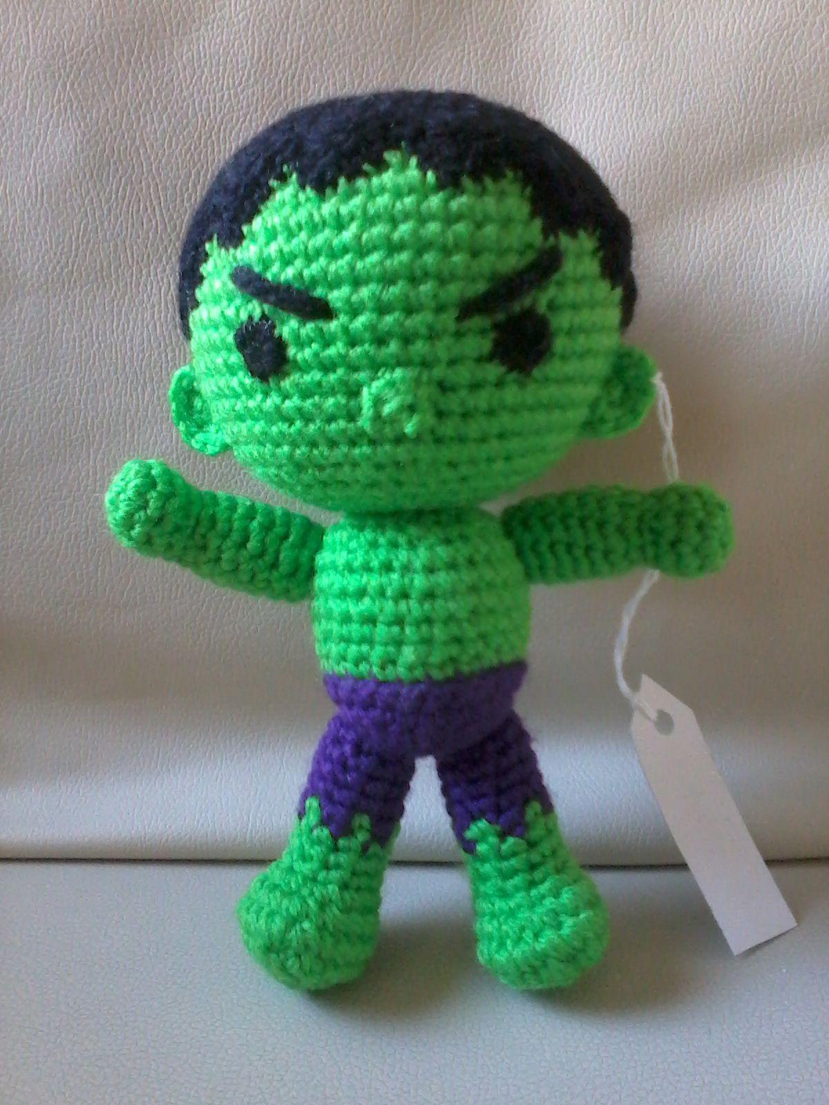 Incredible Hulk crochet amigurumi toy. Inspired by Marvel ...   1600x1200