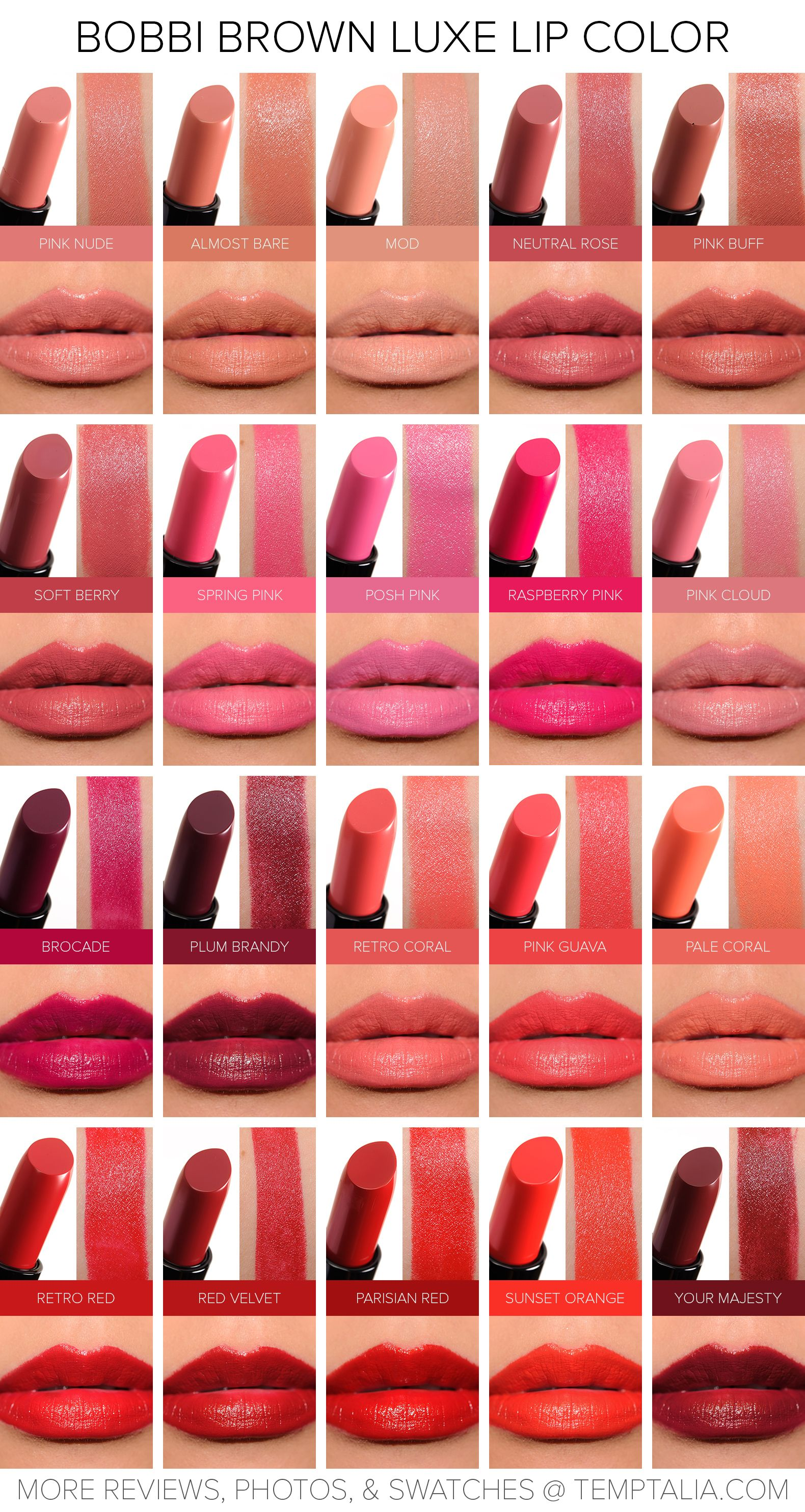 Sneak Peek Bobbi Brown Luxe Lip Color Photos Swatches Makeup