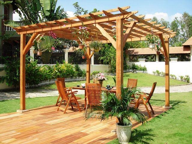 amnagement jardin pergola plus intimit dans votre espace - Pergolas Jardin