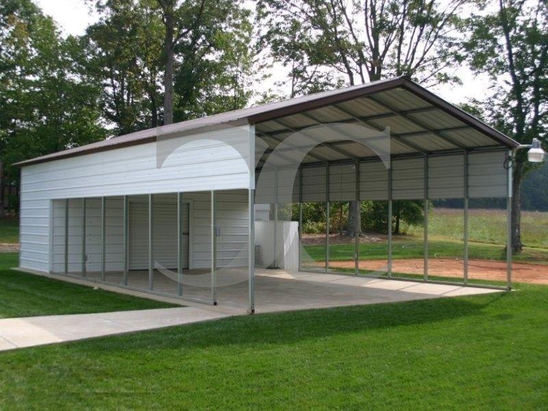 Metal Utility Carports With Storage Carport with storage