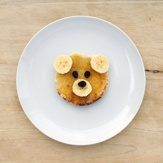 Teddy bear toast or pancake