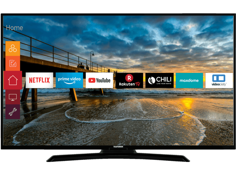 Telefunken Led Tv Telefunken 49 U 4000 Led Tv Flat 49 Zoll 123 Cm Uhd 4k Smart Tv Mediamarkt Led Fernseher Fernseher Elektroniken