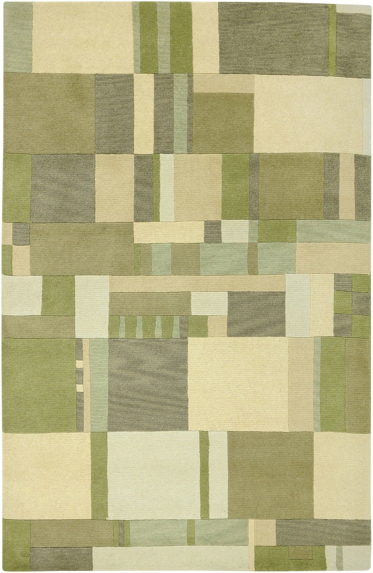 Leone Hand Knotted Green Tan Area Rug Area Rugs Green Rug Shop