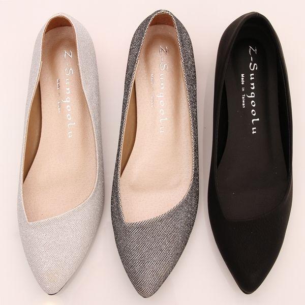 71aac07e82a Bn Womens Low Kitten Heels Pointed Toe Bling Bling Ballet Flats Ballerina  Shoes