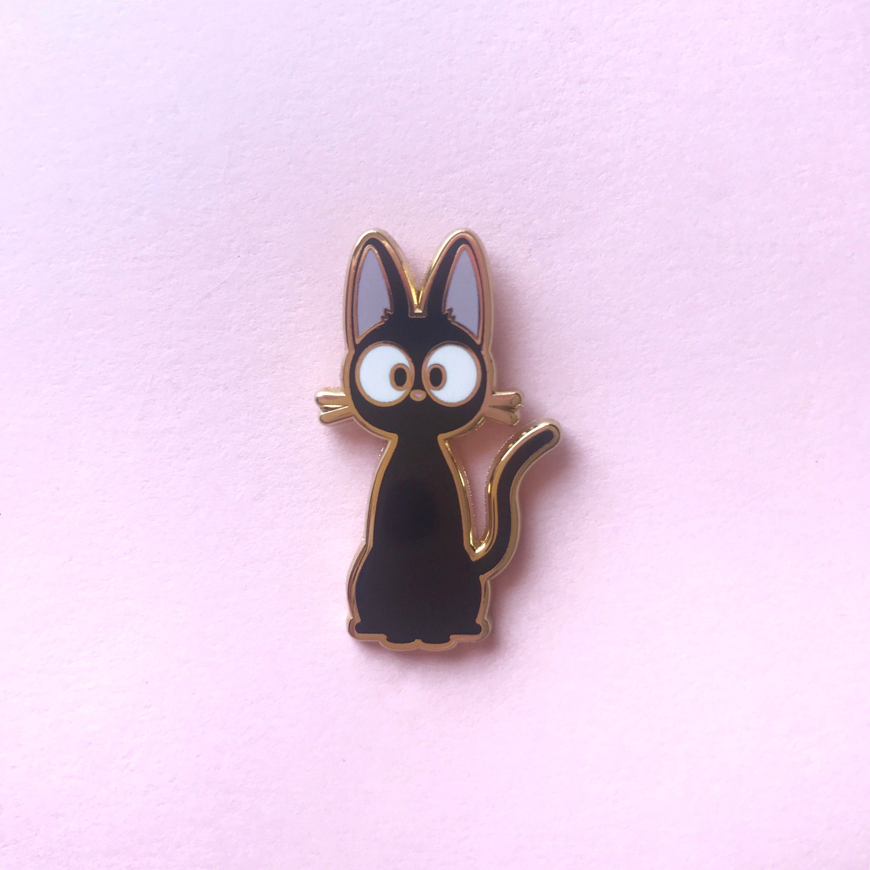 Witch Kitty Pin By Candy Corpse In 2020 Cat Enamel Pin Anime Merchandise Enamel Pins