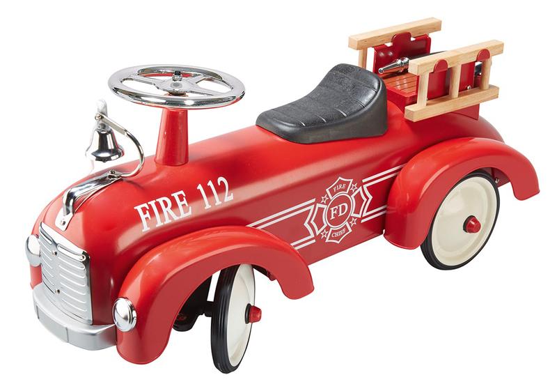 Goki Rutscherauto Feuerwehr Aus Metall Rot Kinder Kids