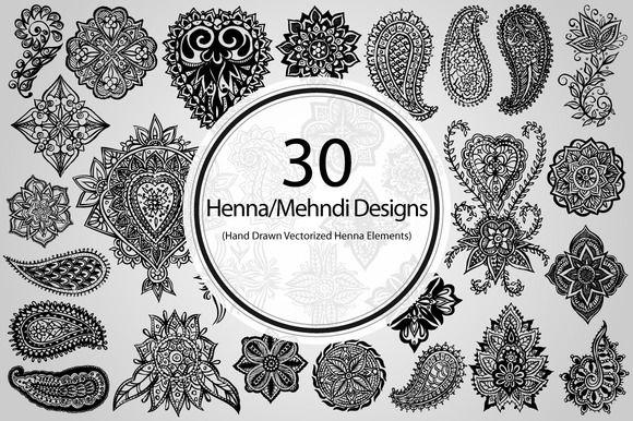 Henna Mehndi Vector : 30 henna mehndi designs vector and graphics