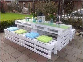 Faire un salon de jardin en palette | Furniture projects, Wooden ...