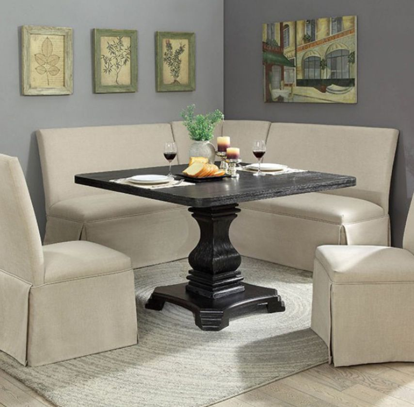 Nerissa Corner Breakfast Nook Set Square Dining Tables Dining
