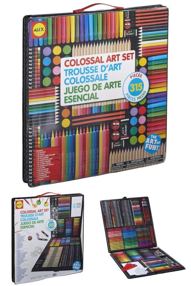 Set Of 315 Art Variety Supplies For Kids Coloring Pencils Paint ...