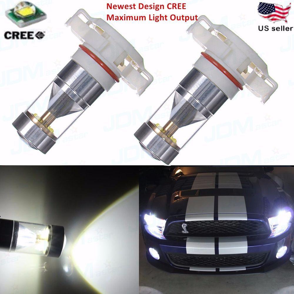 2x White H16 PS24W 5201 33SMD Car LED Turn Signal Fog Light SUV Bulbs DRL Lamp