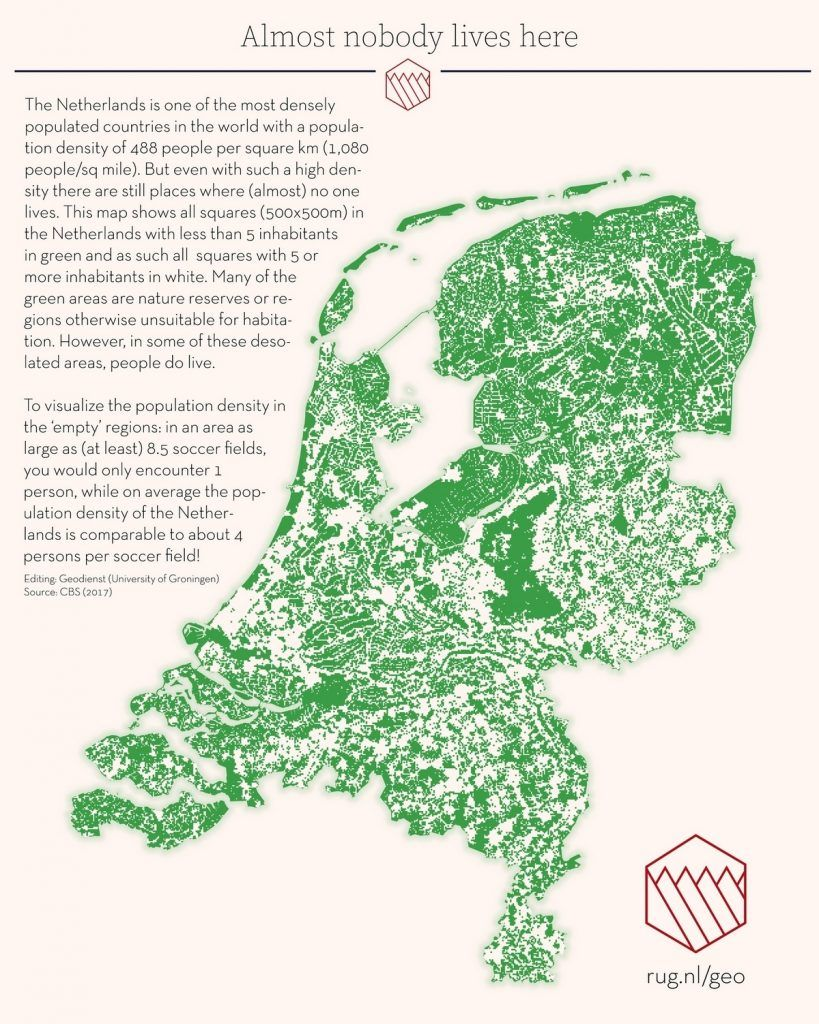 Nobody Lives Here Vivid Maps Map Netherlands Countries Of The World