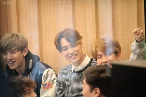 Kai - 150413 SBS-R Power FM Jeong Chan Woo and Kim Tae Gyun's CulTwo Show Credit: Reflection. (SBS-R 파워FM 정찬우, 김태균의 두시탈출 컬투쇼)