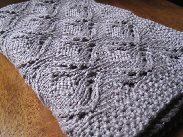 An easy lace, textured lace pattern and seed stitch border make for ...