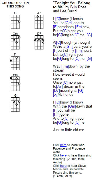 Tonight You Belong To Me Ukulele Chords Make Some