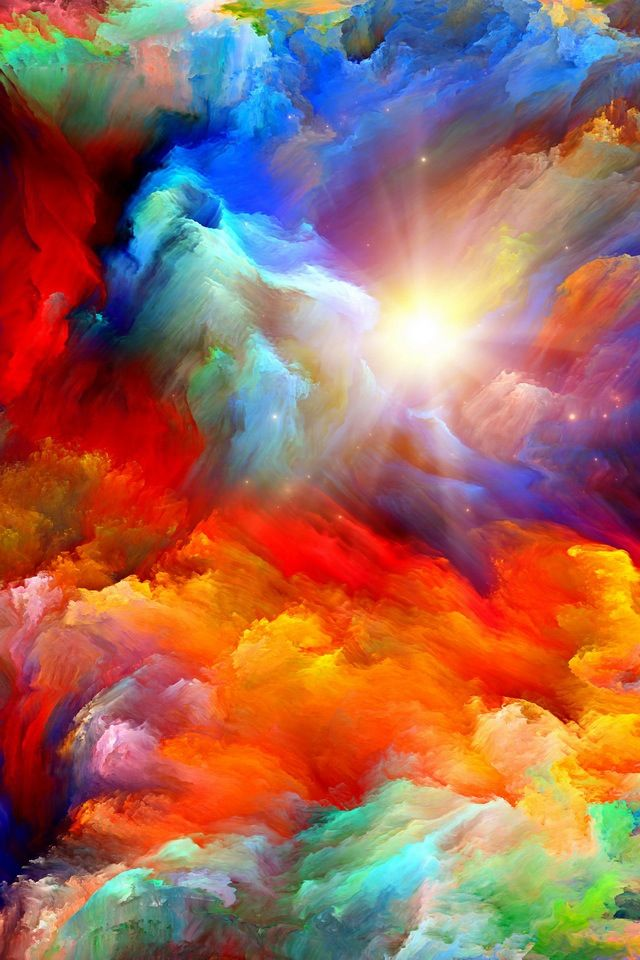 Custom Wallpaper From Wallpaperink Colorful Abstract Art Rainbow Art Rainbow Painting