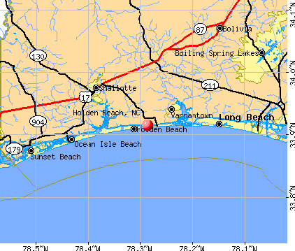 Holden Beach Map holden beach north carolina   Google Search | Favorite Places  Holden Beach Map