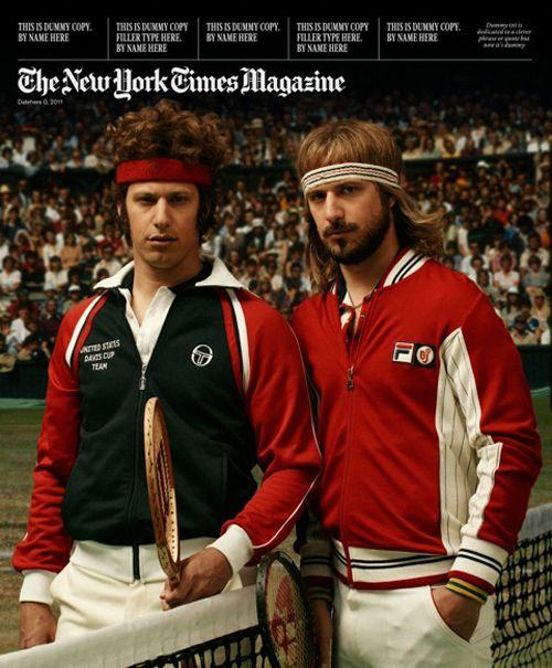 Andy Samberg as John McEnroe and Bjorn Borg  | Famous Faces on the