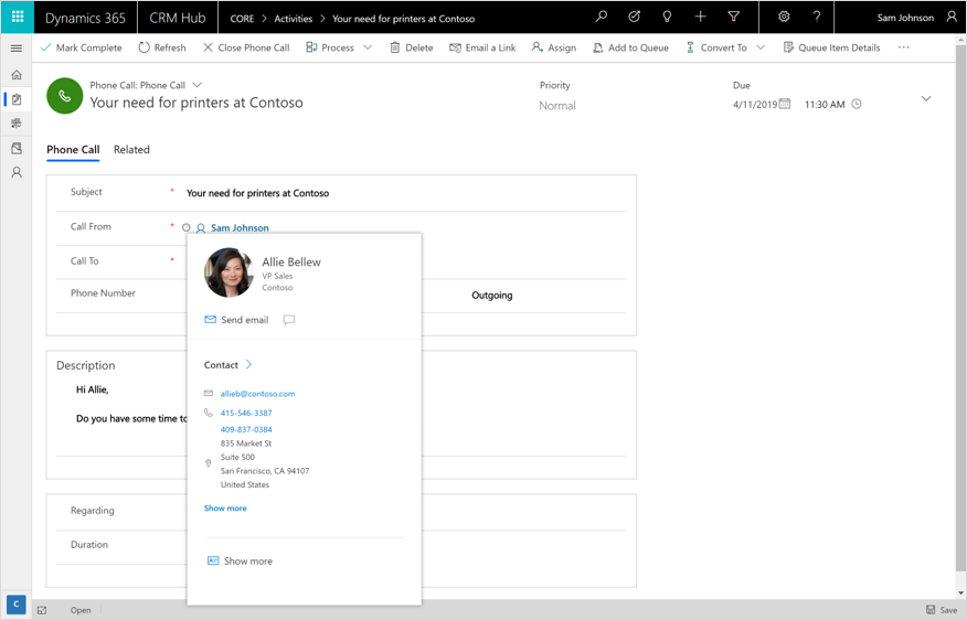 Introducing Profile cards in Dynamics 365 Data services