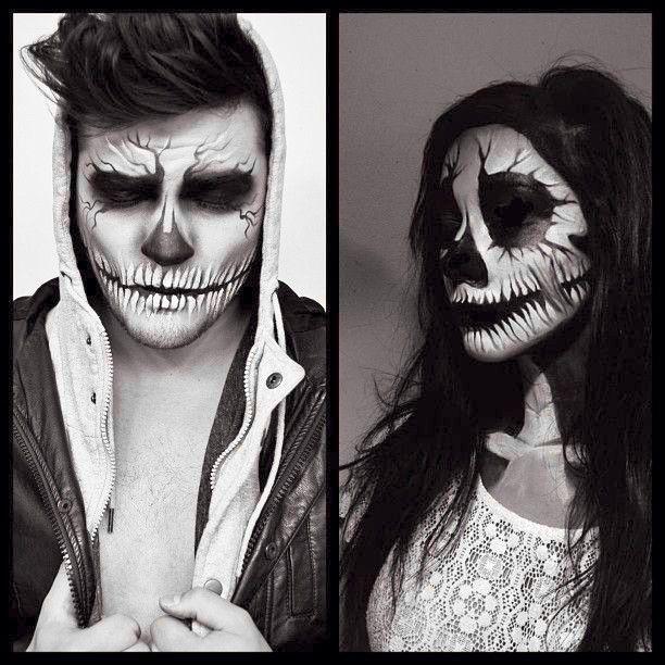 Love it! Me and big daddy so gotta do this!! Halloween ideas - maquillaje de vampiro hombre