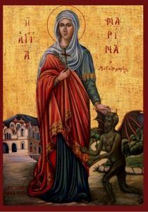 ΑΓΙΑ ΜΑΡΙΝΑ - Ξύλινη εικόνα Αγίας Μαρίνης, Agia Marina icon (With images)   Θρησκεία, Μαρίνα ...