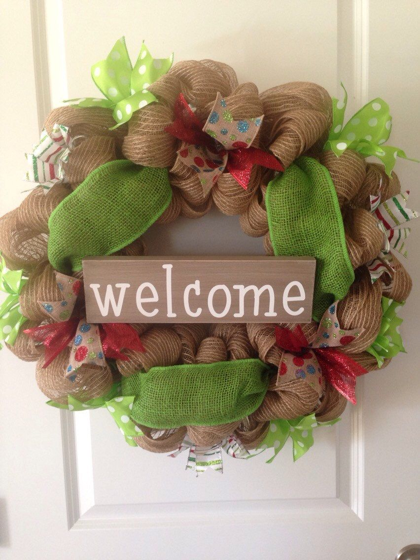 Christmas wreath by OneCraftyChick757 on Etsy