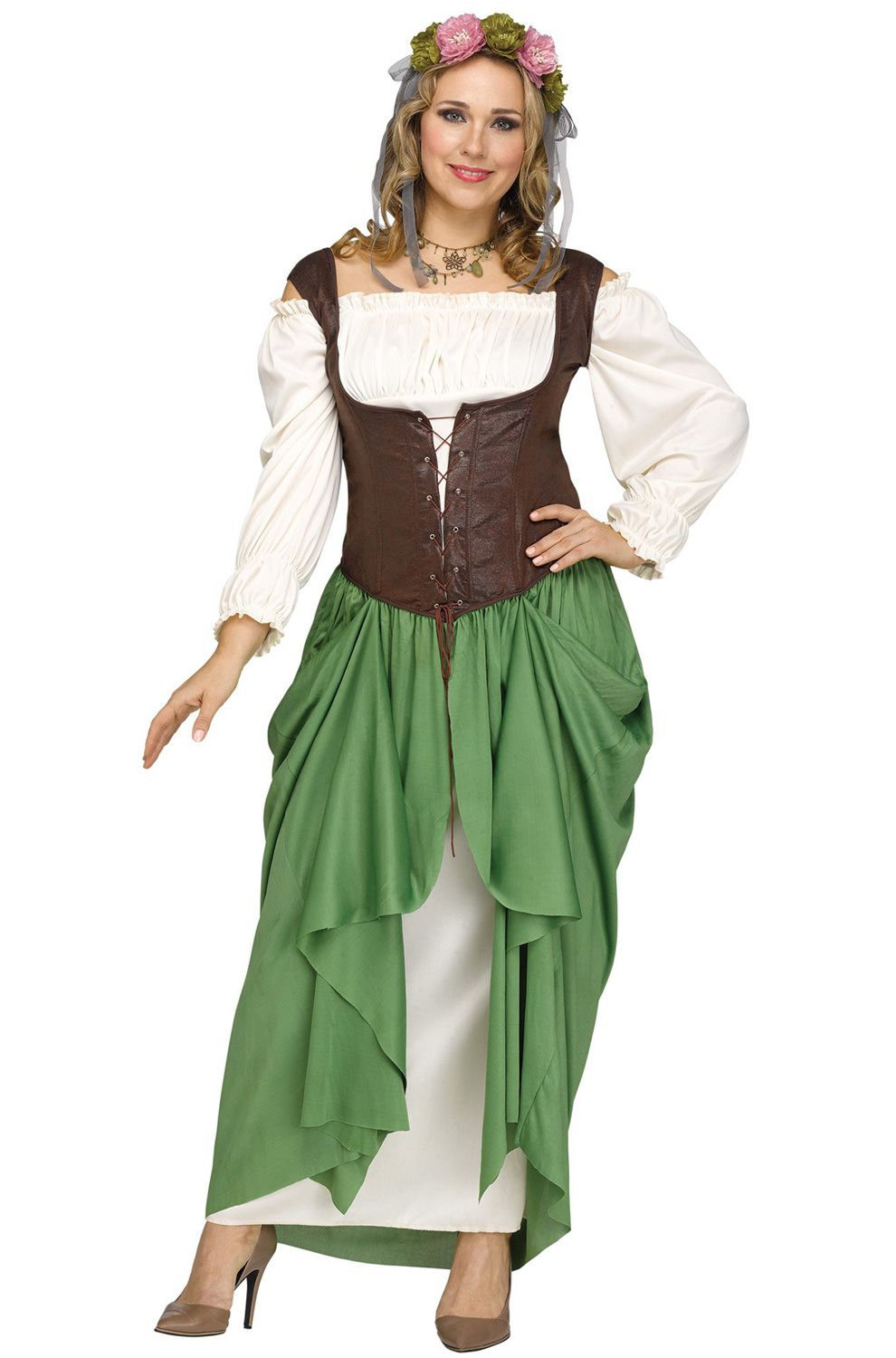 bec0d846212 Check out the deal on Serving Wench Plus Size Costume - FREE SHIPPING at  PureCostumes.com