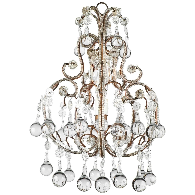 Antique italian crystal chandelier chandeliers