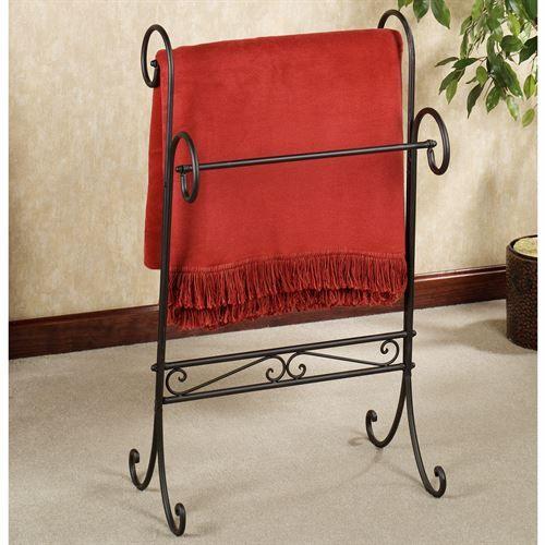 Messina Wrought Iron Blanket Rack | Blanket rack, Messina and ... : wrought iron quilt hangers - Adamdwight.com