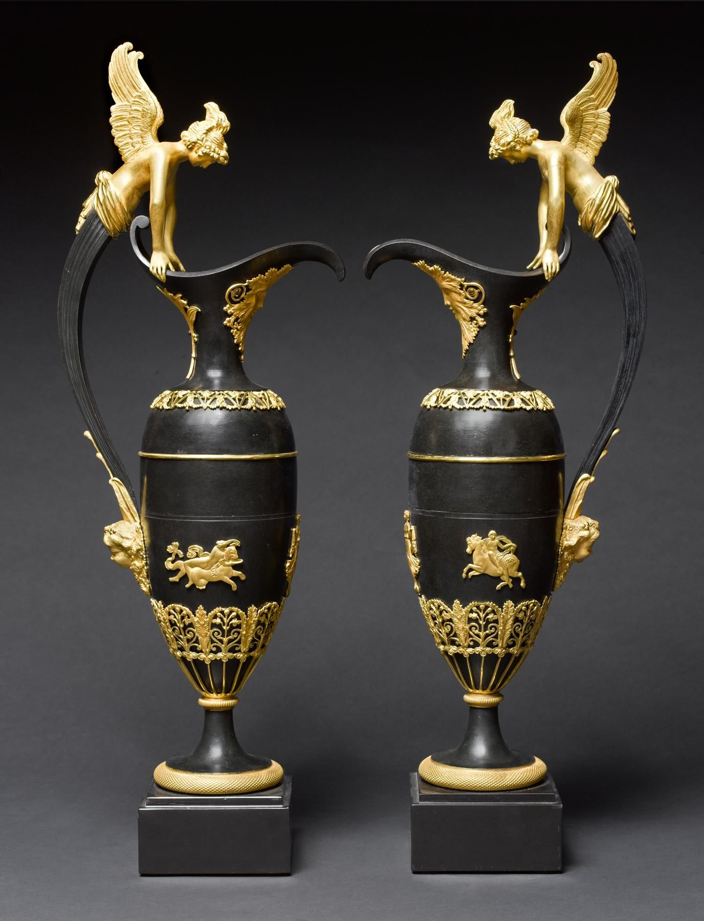 A pair of empire ormolu and patinated bronze vases circa 1815 a pair of empire ormolu and patinated bronze vases circa 1815 attributed to claude galle reviewsmspy