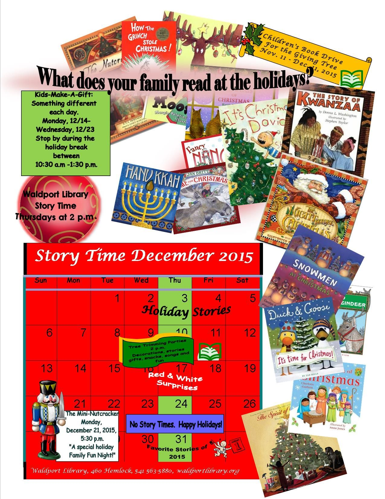 Preschool Story Times Events At Waldport Public Library
