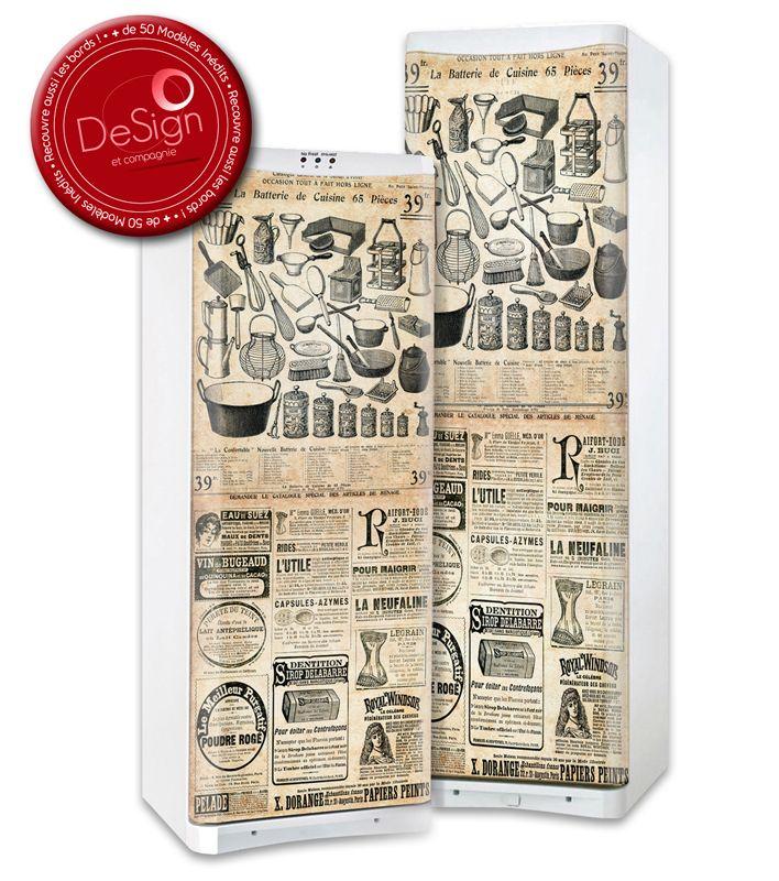 Sticker Frigo Affiche Vintage Cuisine Stickers Frigo