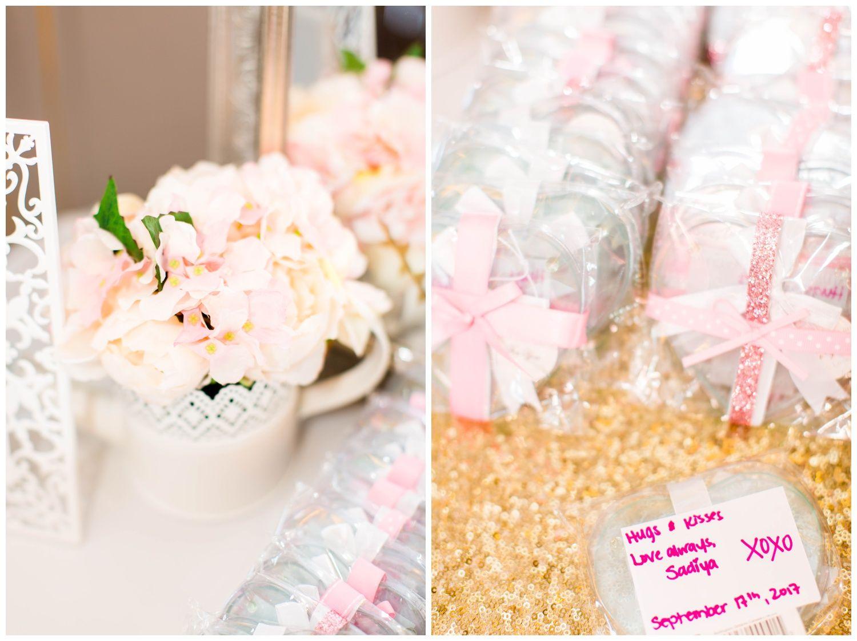 coaster bridal shower favours carruthers marsh pavilion blush rose gold floral bridal shower toronto mississauga brampton scarborough gta indian pakistani