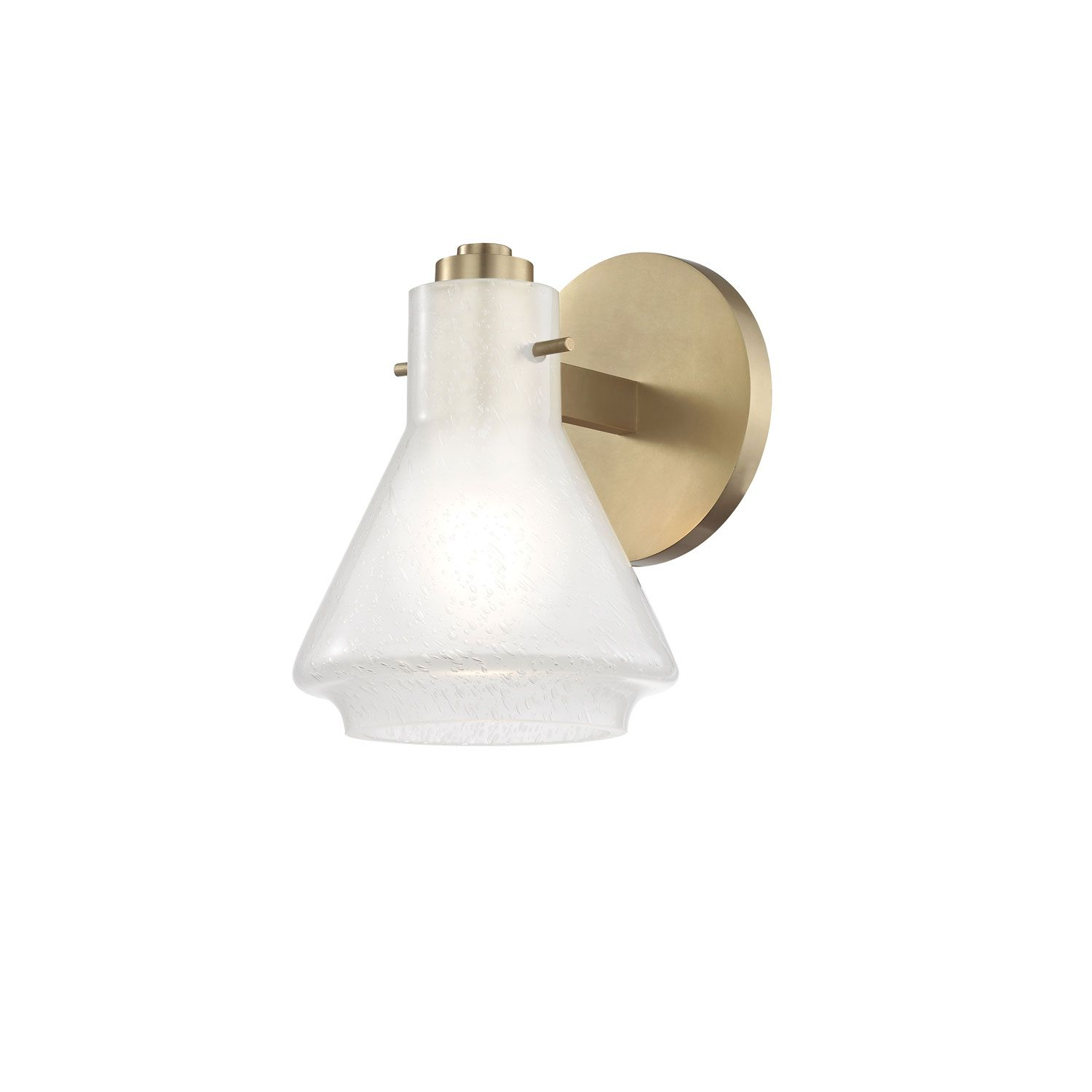 Photo of Mitzi By Hudson Valley Lighting Rosie Aged Brass 6 Inch One Light Vanity H129301 Agb | Bellacor