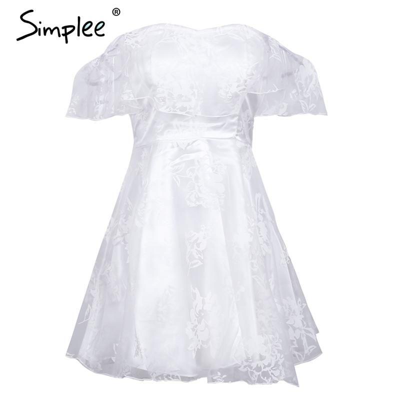 82587d9e099 Ruffle Off Shoulder Party Dresses Women Backless Mesh High Waist Mini Dress  Female Elegant Strapless Dress