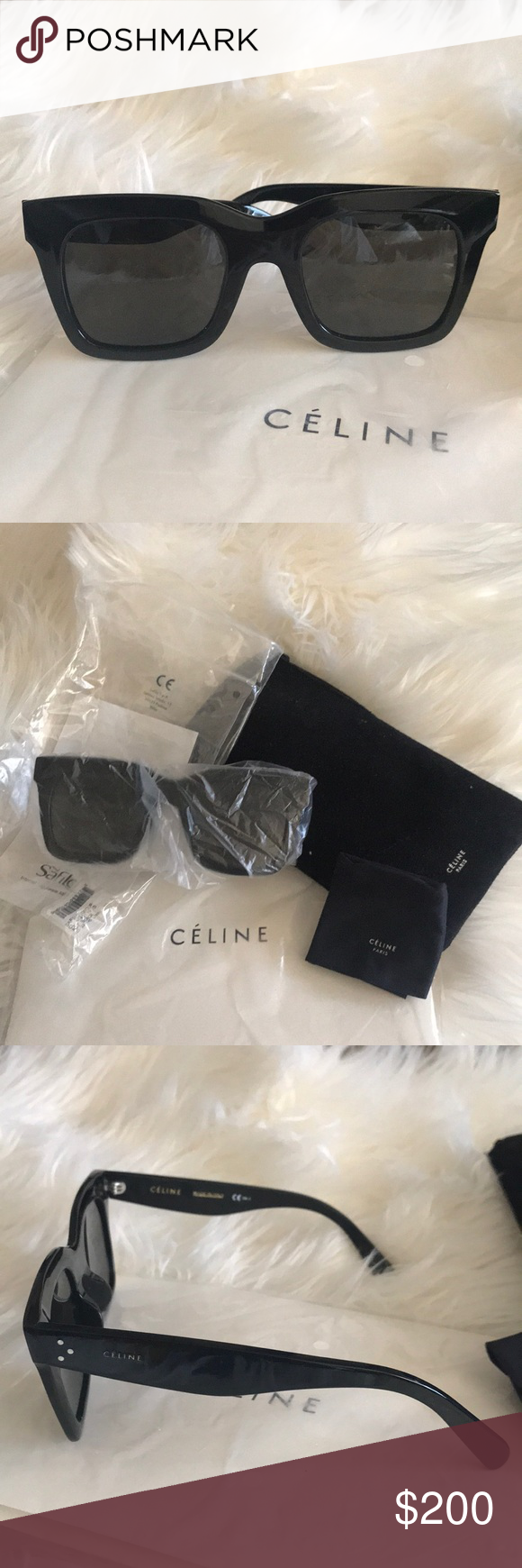 9e33ce0f465d CELINE Luca Sunglasses Black CL 41411 F/S Brand new never worn. Nice  classic style that can be worn everyday. Adds a bold statement to any look.