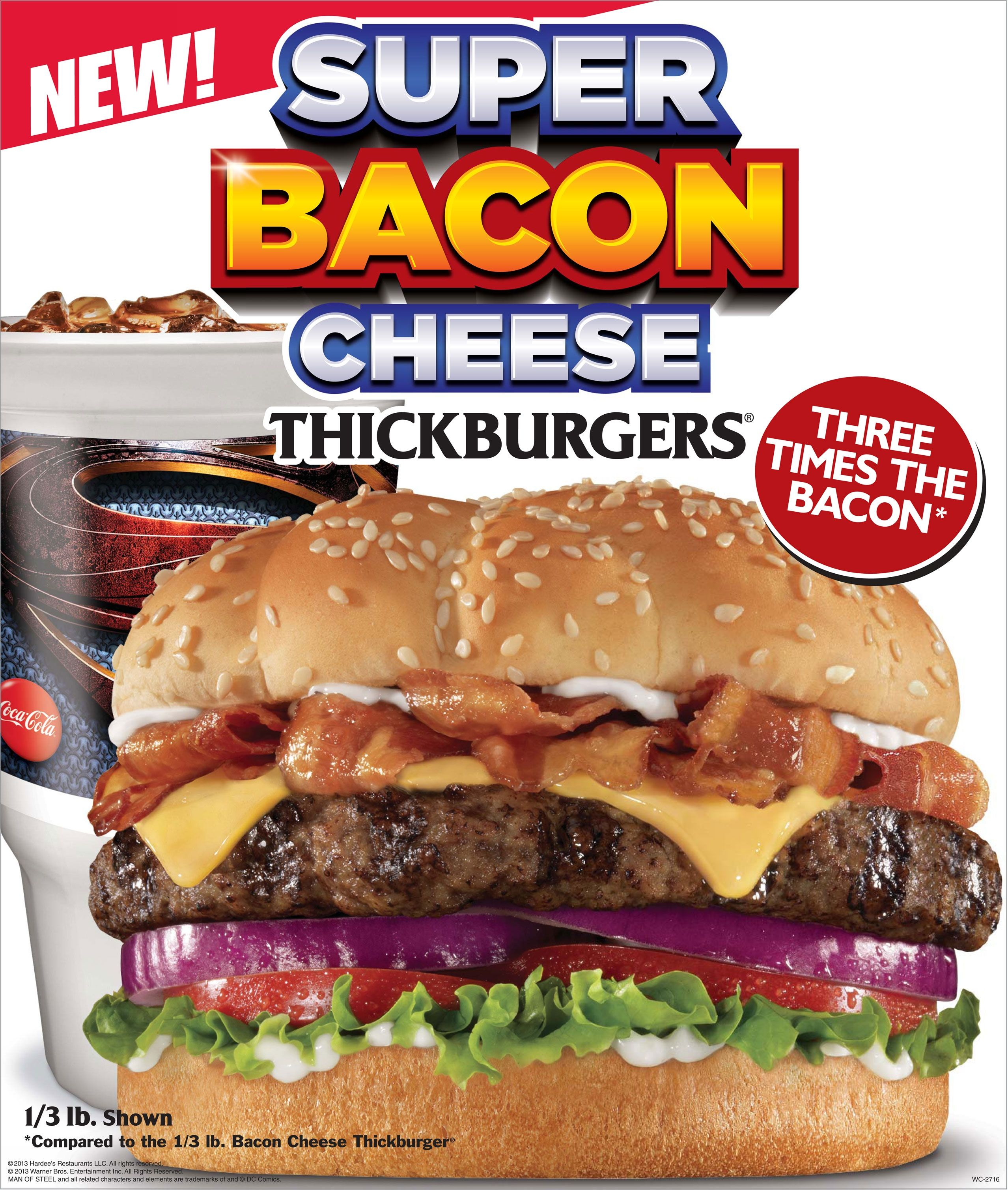 Hardees Present A Super Burger For Super Fans Boasting Six Slices Of Bacon