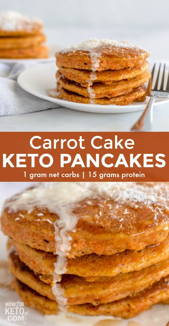 Keto Carrot Cake Pancakes
