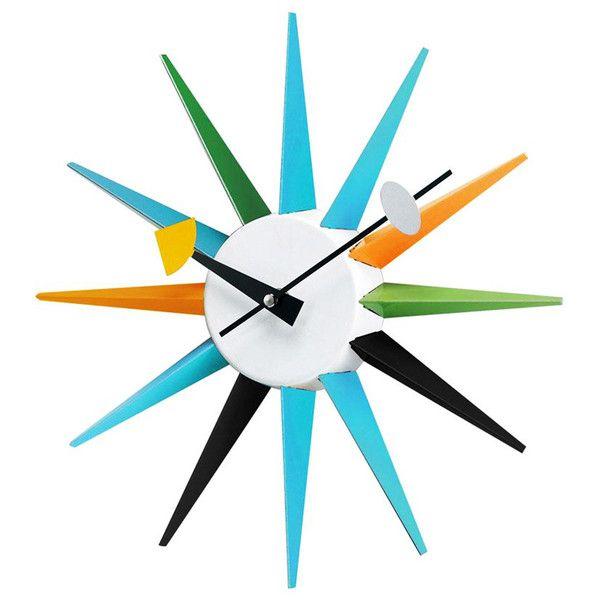 Starburst Clock ($55) via Polyvore