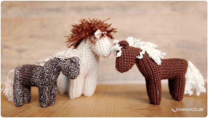 Pferd Häkeln Anleitung Für Häkelpferdchen Binenstichde Crochet