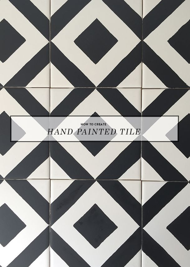 Hand Painted Tile DIY is part of Hand painted tiles diy, Painting bathroom tiles, Painting tile, Diy tile, Painting tile floors, Painting kitchen tiles - Ok, don't get too excited (but get a little excited) because although this tile isn't installed yet, it's done being painted and I LOVE it  I wanted to break this hand painted til…