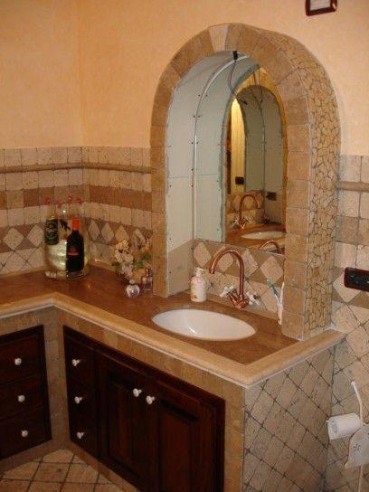 Bagno in muratura modern decor pinterest bagno bagni e arredamento - Rivestimento bagno rustico ...