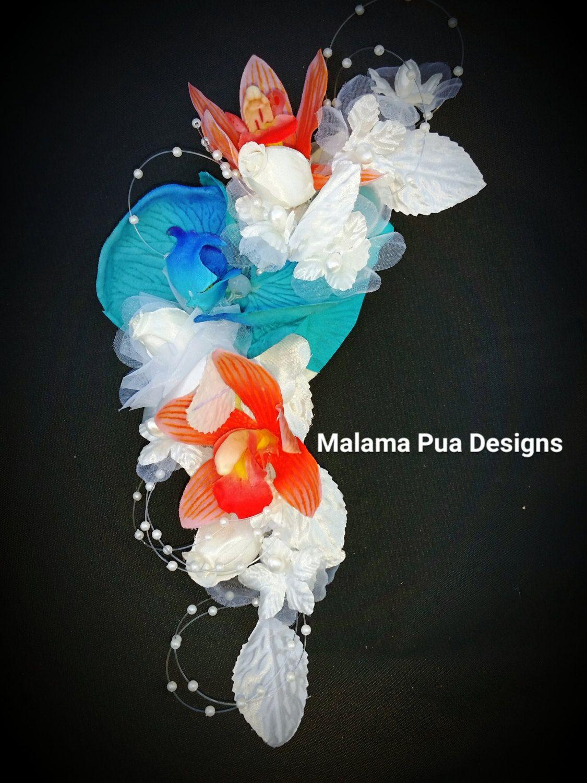 Custom Wedding Headpiece Bridal Hair Flower Hawaiian Flower Hair