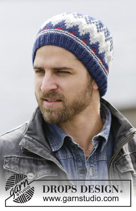 Mens Viking Beanie - Men's Fair Isle Wool Hat - Mens Norwegian ...