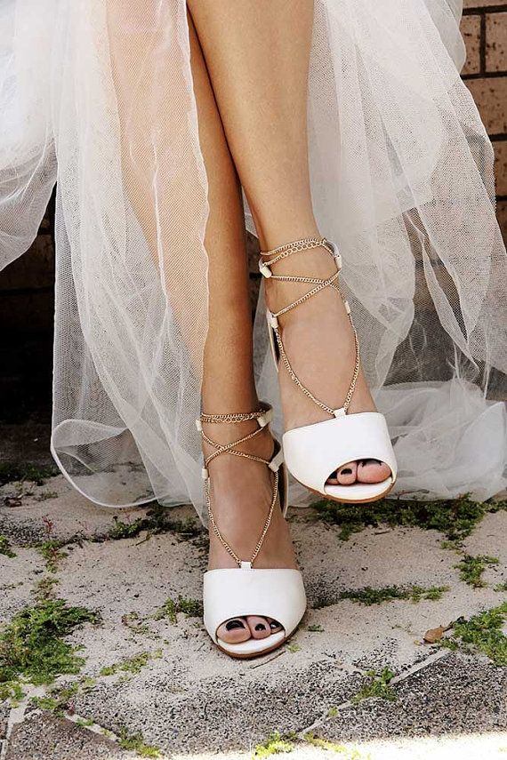 Low Heel Ivory Wedding Shoes Leather By Foreversoles On Etsy