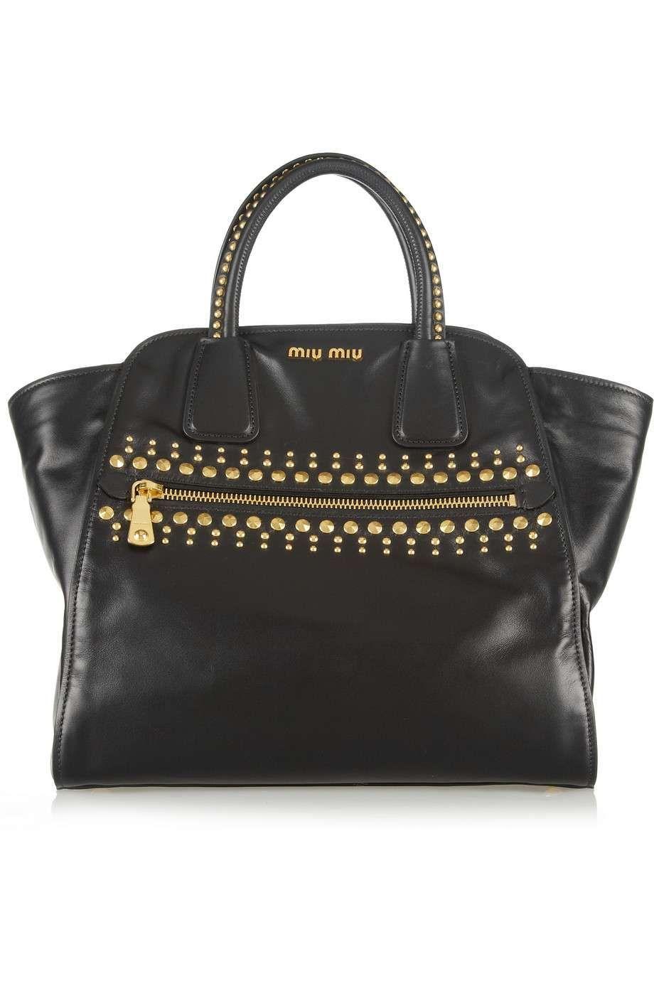 Miu Miu Studded leather trapeze bag  bf7f78325